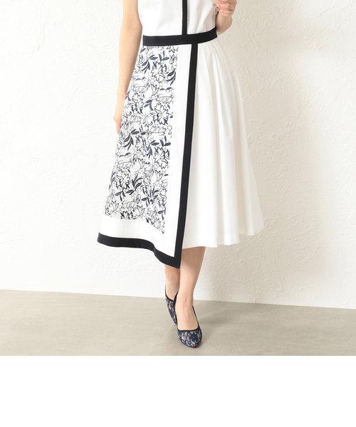 【LOVELESS】WOMEN エンブロイダリーレースコンビスカート