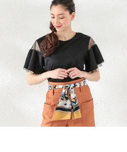 【LOVELESS】WOMEN シアーフレアースリーブTシャツ