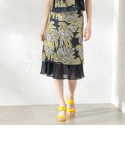 【LOVELESS】WOMEN Creative line リーフジャカードスカート