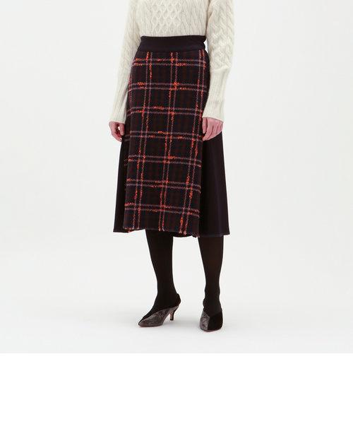 フロントチェック ミモレ スカート