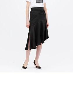 シャイニー サテン アシメスカート
