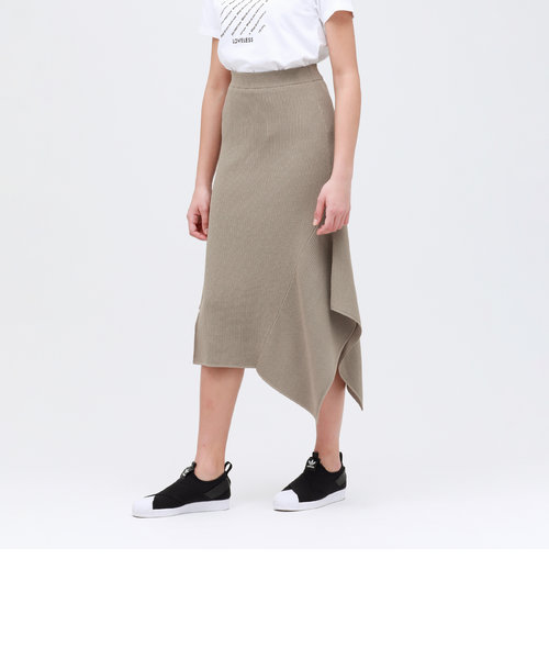 アシンメトリー ニットスカート