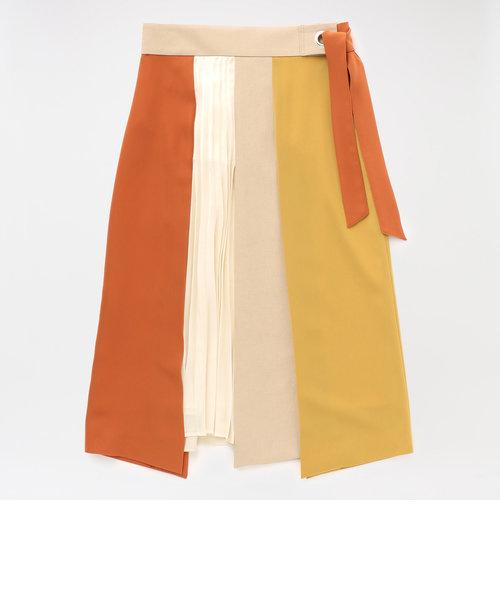 カラーブロッキングスカート