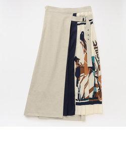 プリーツ コンビ スカート