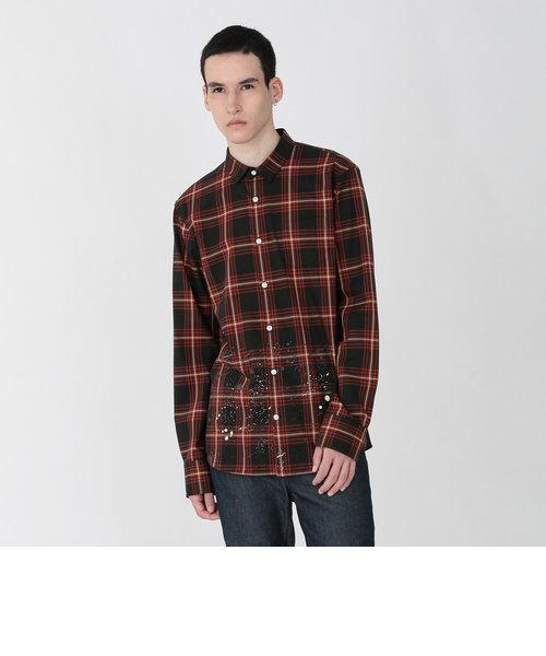 ペイントスプラッシュ チェックシャツ