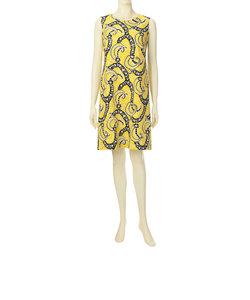 カラーペイズリープリントドレス