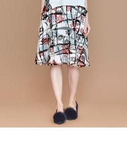 レイヤードフラワースカート