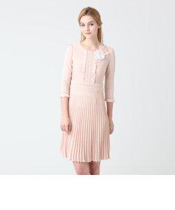 ブライトレーヨンストレッチニットドレス