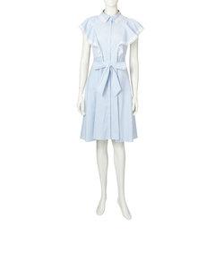 【ウォッシャブル】コットンナイロンストライプドレス