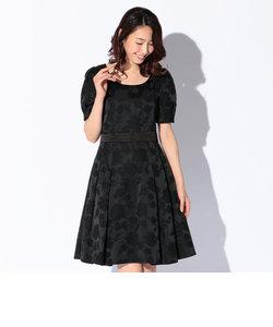 ブライトサテンジャカードドレス
