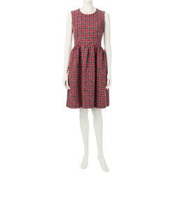 トリコロールツイードドレス