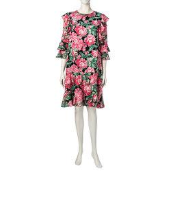 オパールフラワープリントドレス