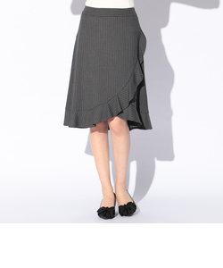 フリルストライプスカート
