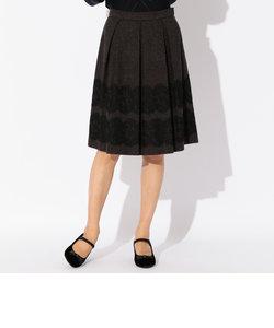 ヘリンボンツイードスカート