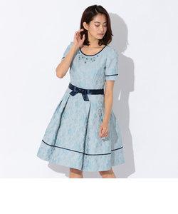 フラワージャカードドレス