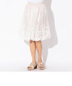チュールエンブロイダリーバルーンスカート