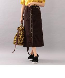 【WEB限定】【Tricolore】コットンライクポリエステルロングスカート