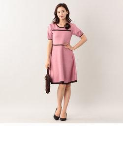 アセテートナイロンニットドレス
