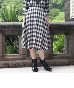 【Sサイズ~】【ウォッシャブル】ブライトツイルチェックフレアスカート