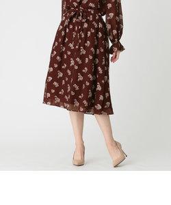 プチフラワージャカードスカート