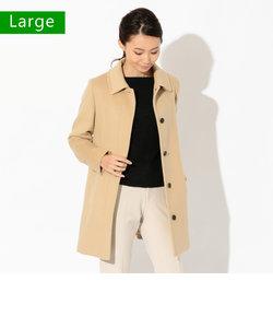 【L】アンゴラライトビーバーステンカラーコート
