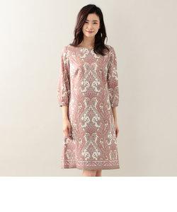 ○○ペイスリーパネルプリントサックドレス