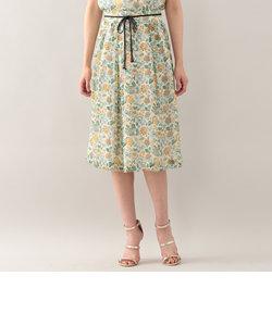 コランバインフラワーミモレ丈スカート