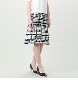 【ウォッシャブル】【セットアップ】ジオメプリントジャージースカート
