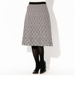 【セットアップ対応】グレンチェックジャカードニットスカート