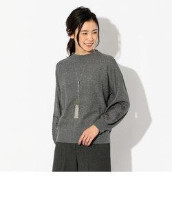 セミ梳毛袖刺繍ニット