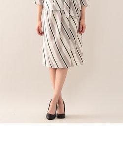 【ウォッシャブル】バイアスストライププリントスカート