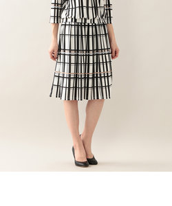 【UV対策】【吸水速乾】【ウォッシャブル】カラーグリットプリントスカート