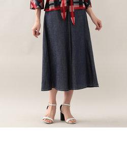 【ウォッシャブル】キュプラ麻ツイルスカート