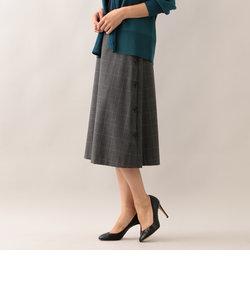 【ウォッシャブル】ストレッチサイドボタンスカート