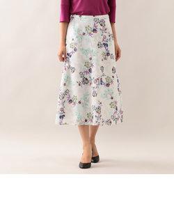 【ITALY FABRIC】【ウォッシャブル】フラワーカットジャカードスカート