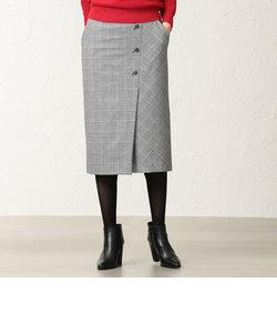 【美Skirt】【ウォッシャブル】チェルビックチェックタイトスカート
