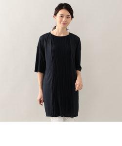 【ウォッシャブル】ブロッキングプリーツドレス