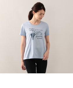 【ウォッシャブル】メッセージアニマルプリントTシャツ