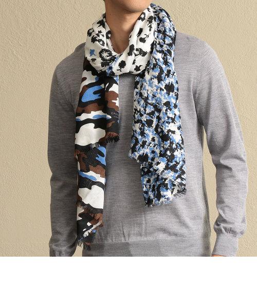 カモフラプリントスカーフ