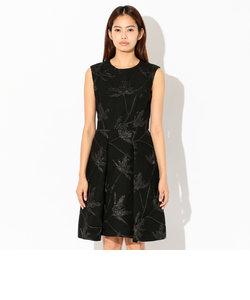 フラワーラメジャカード ドレス