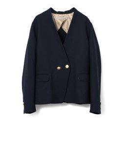 【LUXLUFT】Vカラー紺ブレザージャケット