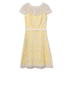 【TADASHI SHOJI】アイボリーレースドレス