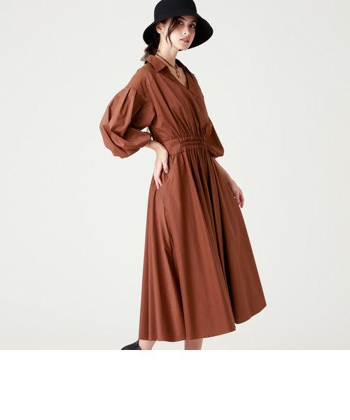 コットンクロスシャツドレス
