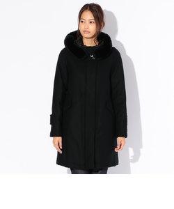 【Rain Wool】Super180'Sフーデッドダウンコート