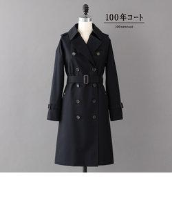 <100年コート>クラシックダブルトレンチコート(三陽格子)