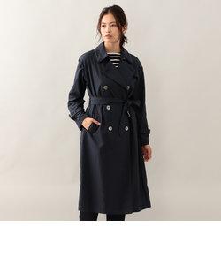 <Spring Coat>シルクコットンポプリントレンチ