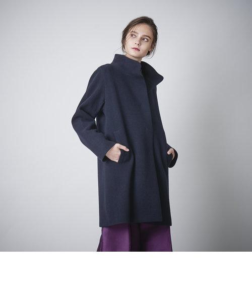 <Flat-Seam Coat>スタンドカラーコート