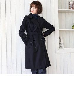 <100年コート>ダブルトレンチコート(三陽格子)