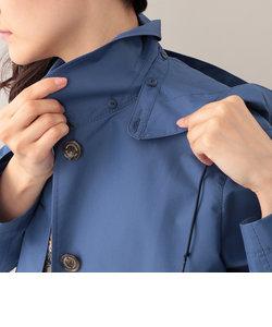 【耐久はっ水】【防シワ】コットンレインクロスフーデッドコート