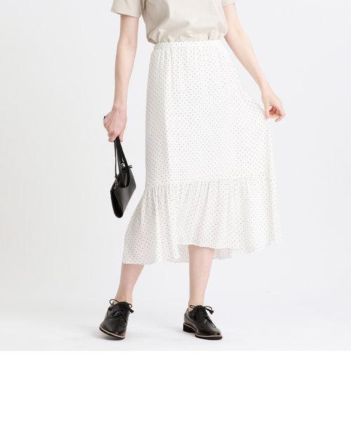 ドットプリントスカート